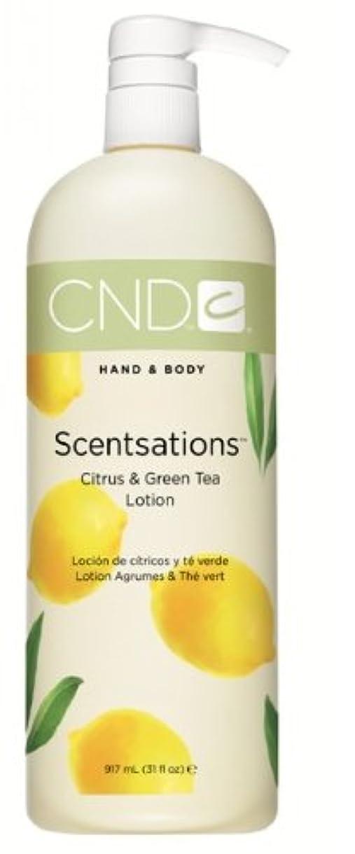 統治する吐き出す中世のCND センセーション scentsations ハンド&ボディローション シトラス グリーンティー citrus green tea   916ml 31oz [アメリカ直送][並行輸入品]