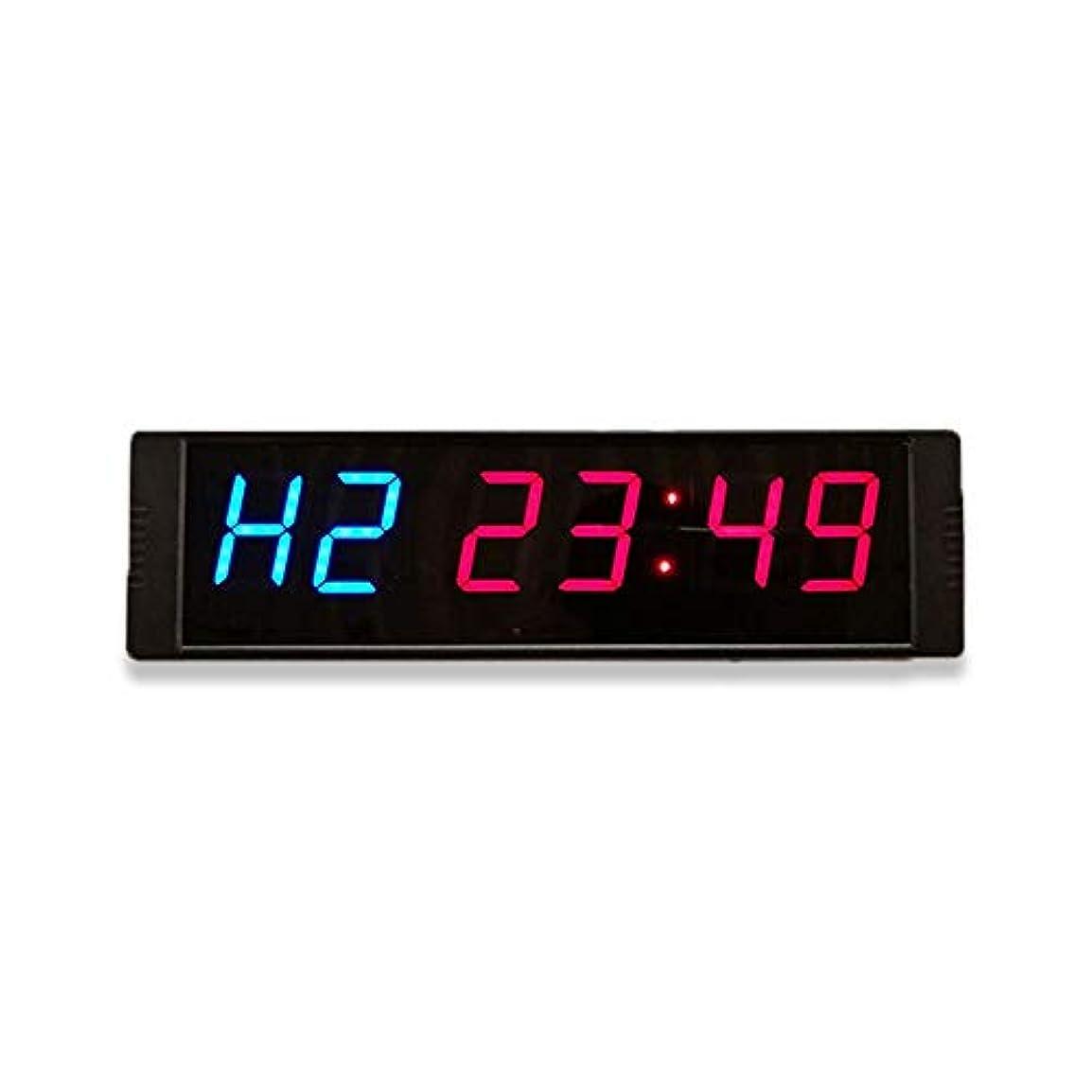 マラソン深遠劇作家スコアボードとタイマー LED桁カウントダウンクロックカウントダウンタイミング分秒カウントダウンタイマー スポーツタイマー (色 : 青, サイズ : 26.5X7.5X2.5CM)