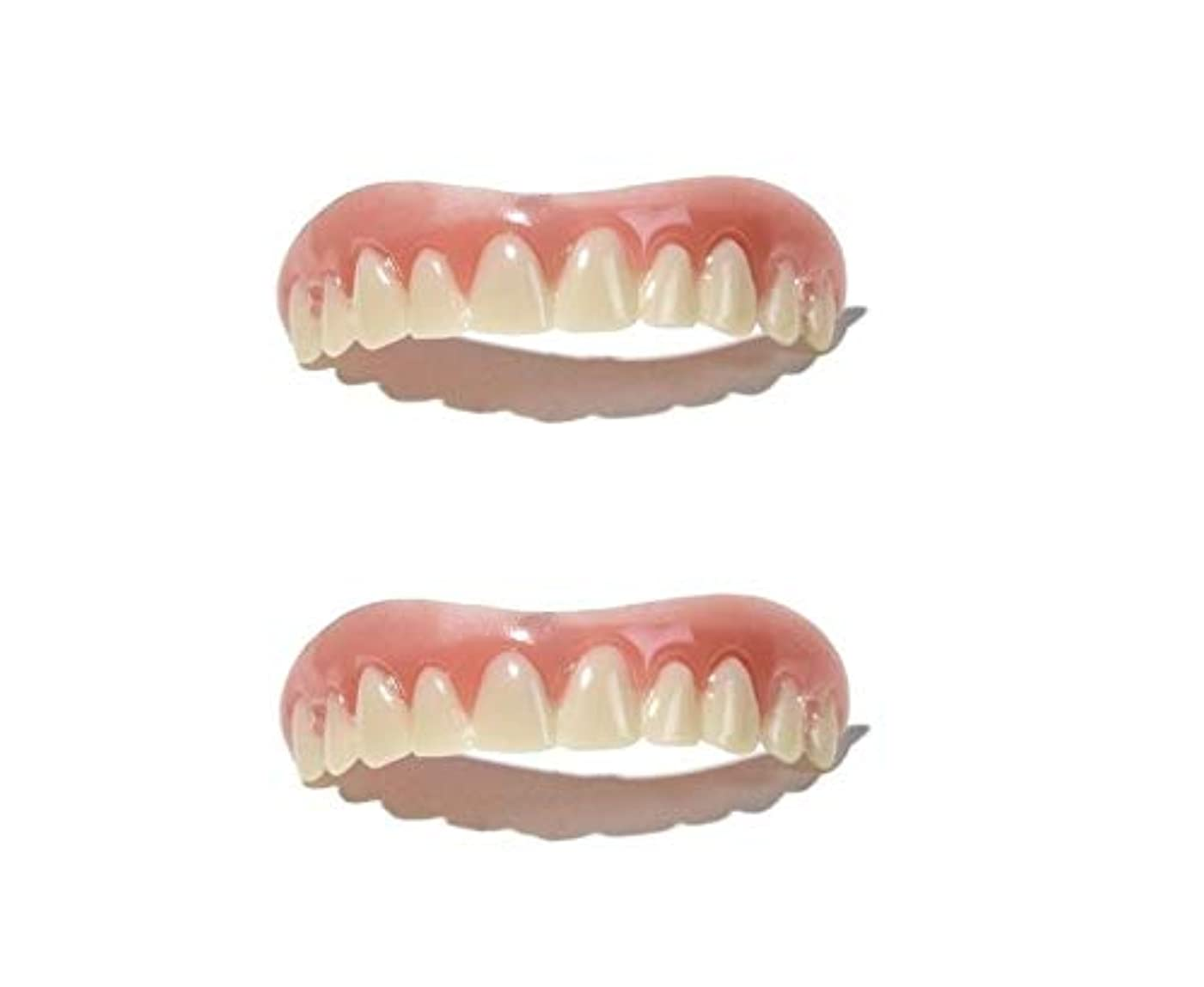 バリー自伝ピアノを弾くインスタント 美容 入れ歯 上歯 2個セット (free size (Medium)