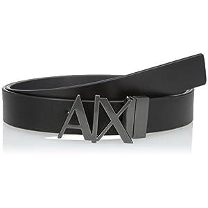 (A X アルマーニ エクスチェンジ) A X ARMANI EXCHANGE AXロゴ レザーベルト 951017/CC505 951017/CC505 43120 BLACK/PHANTOM 32