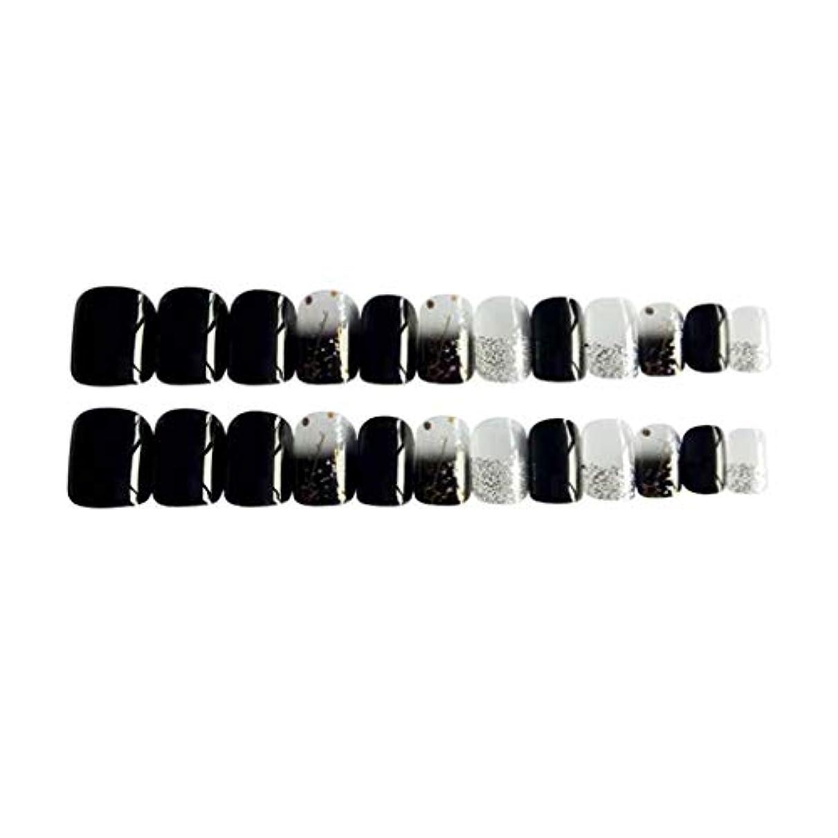 トチの実の木ノミネート非常にPerfeclan 約24個 つけ爪 ネイルチップ 長い爪 フルカバー 付け爪 手作りネイルチップ ブラック