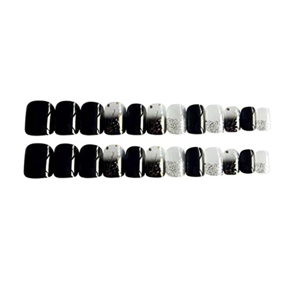 扱うバリケード献身Perfeclan 約24個 つけ爪 ネイルチップ 長い爪 フルカバー 付け爪 手作りネイルチップ ブラック
