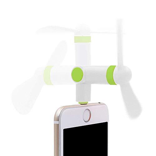 スマホ扇風機 ミニファン 180度回る 角度調整可能 省エネ 手持ち iphone6S PLUS 7PLUS 小さい ファン 静か 携帯便利 TPE 環境保護材料 超小型ポータブル モバイルファン 収納便利 (ホワイト)
