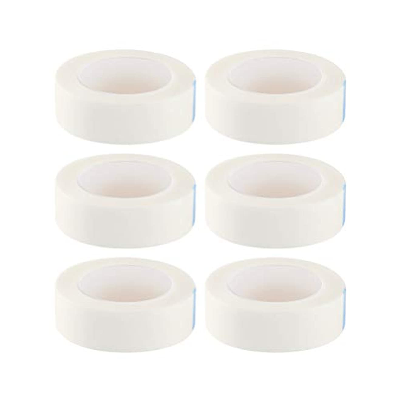 温度海聴衆SUPVOX 12ロールまつげ絶縁テープまつげラッシュエクステンションテープ不織布医療用テープ医療用テープ(白)
