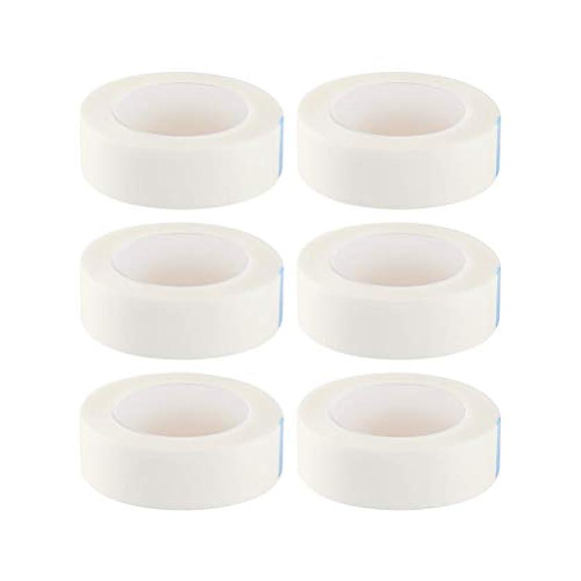 意欲ランデブーアラームHealifty 12ロール まつげテープ まつげエクステ 不織布テープ 接着ステッカー  睫毛 エクステンション