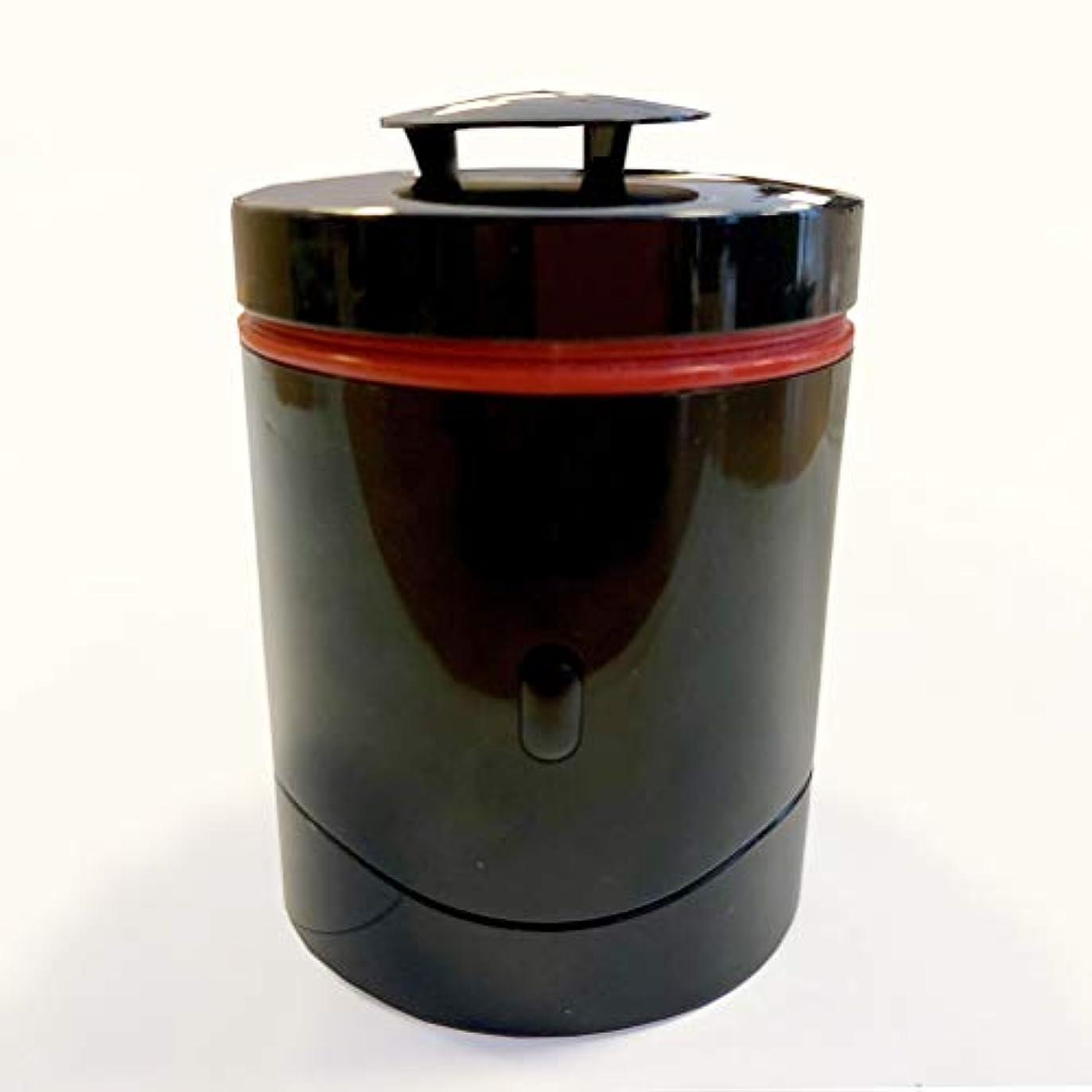 回転する移民デコレーション電子香炉kioka Black