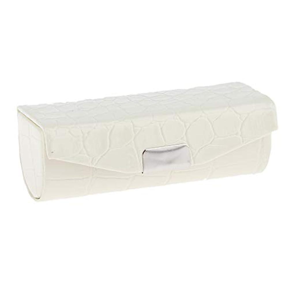 発疹挨拶するイタリックSharplace 口紅ケース 小物収納ケース プレゼント ミラー付き 多色選べ - 白