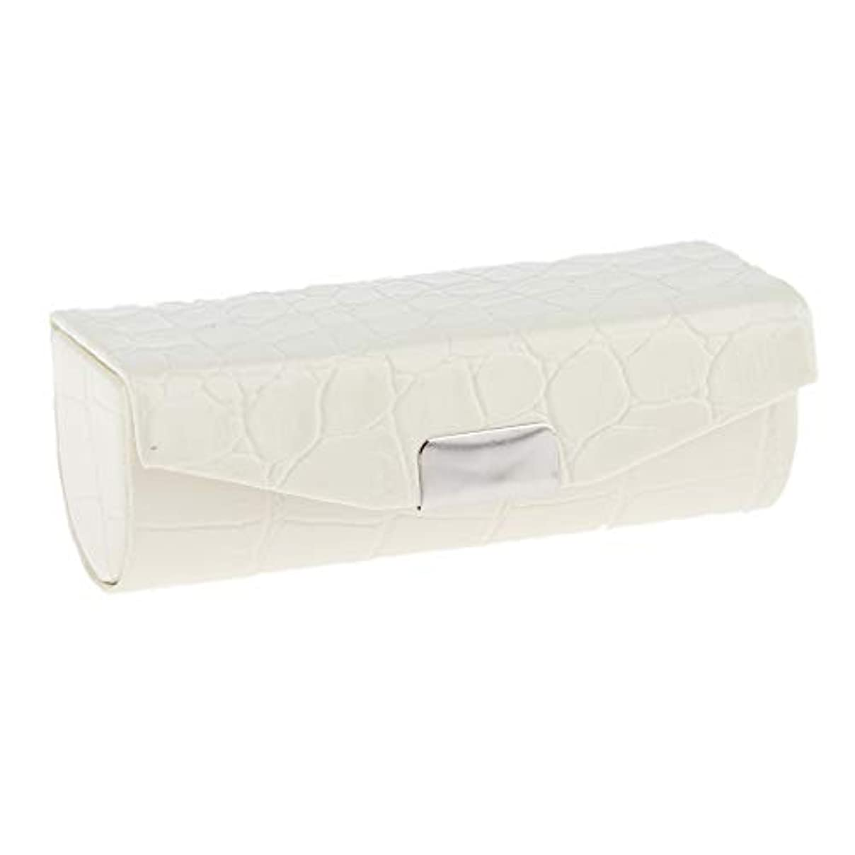 レジデンス潮踏みつけSharplace 口紅ケース 小物収納ケース プレゼント ミラー付き 多色選べ - 白