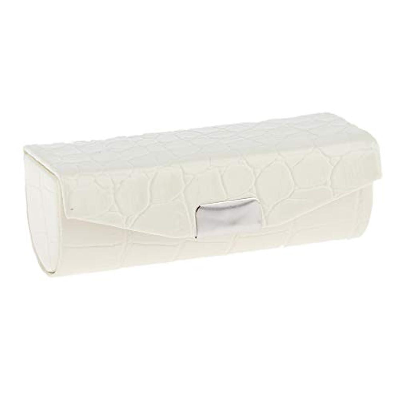 明らか立方体ディレクターSharplace 口紅ケース 小物収納ケース プレゼント ミラー付き 多色選べ - 白