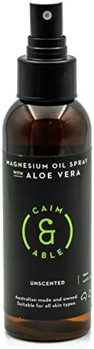 Caim & Able Magnesium Oil Spray Bottle with Aloe Vera 125ml - Less Itchy for Sensitive Skin - Australian M