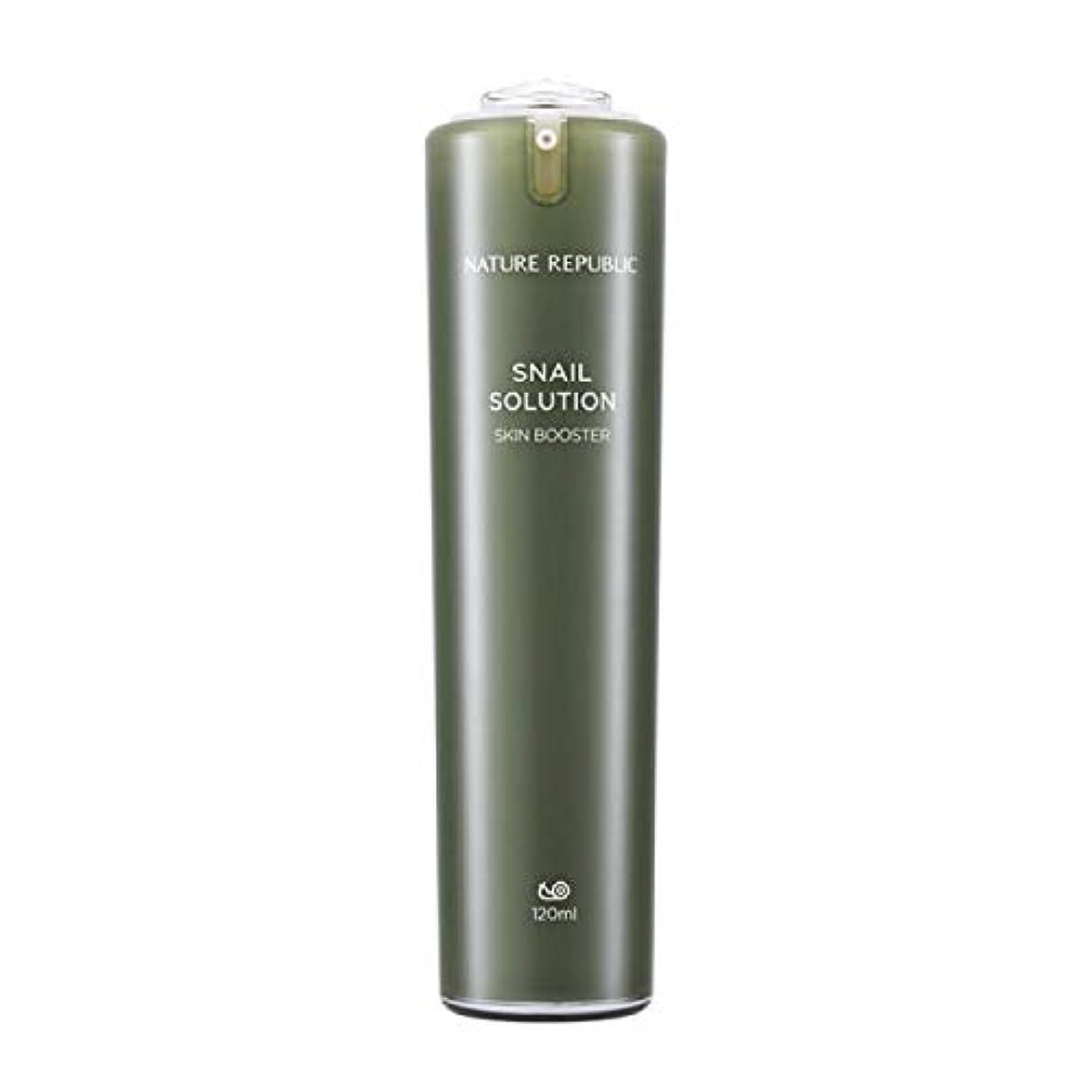 アクセントミンチ製造ネイチャーリパブリック(Nature Republic)カタツムリソリューションスキンブースター 120ml / Snail Solutions Skin Booster 120ml :: 韓国コスメ [並行輸入品]