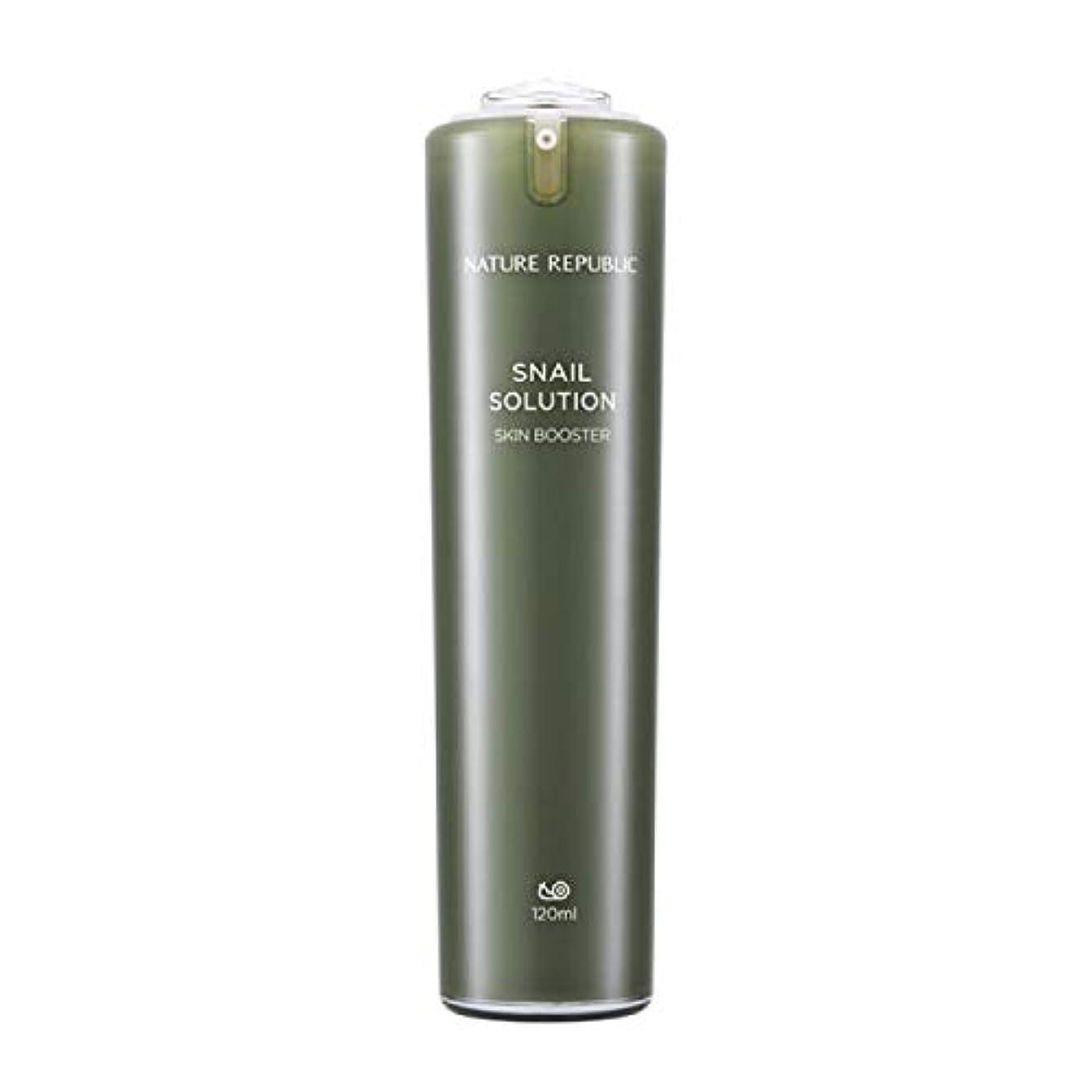 旋律的ピースライセンスネイチャーリパブリック(Nature Republic)カタツムリソリューションスキンブースター 120ml / Snail Solutions Skin Booster 120ml :: 韓国コスメ [並行輸入品]
