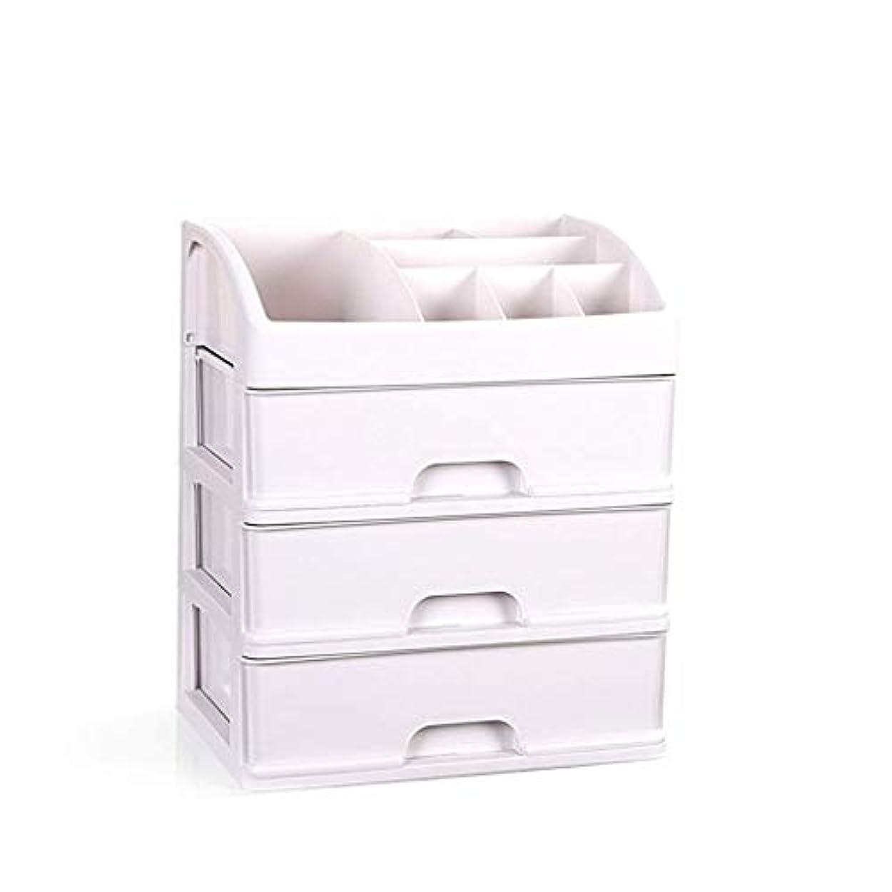 使役差別化するなめらかなデスクトップ化粧品収納ボックススキンケア仕上げボックス特大