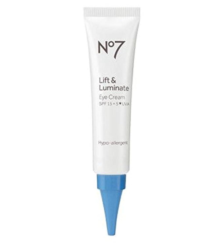 の有力者あえてNo7 Lift & Luminate Eye Cream - No7リフト&Luminateアイクリーム (No7) [並行輸入品]