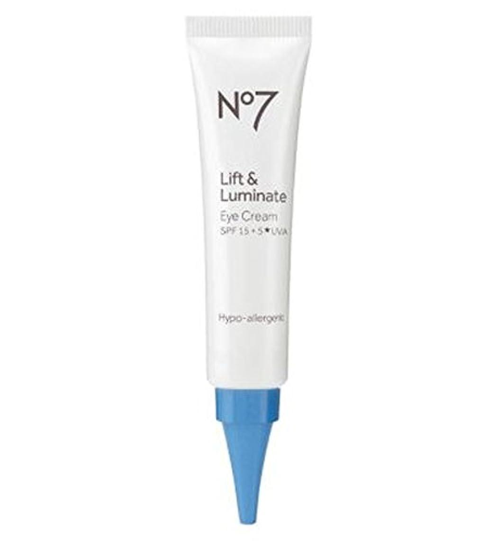 または魅力虐殺No7リフト&Luminateアイクリーム (No7) (x2) - No7 Lift & Luminate Eye Cream (Pack of 2) [並行輸入品]