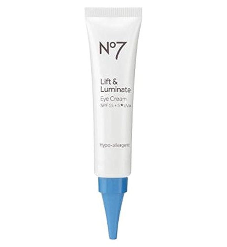 アブストラクト十代スポークスマンNo7 Lift & Luminate Eye Cream - No7リフト&Luminateアイクリーム (No7) [並行輸入品]