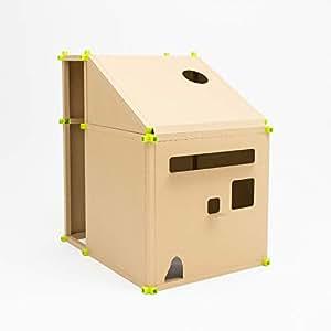 家の中の家「カカポ」は、丈夫で軽い紙管の骨組みとダンボールの壁を組み合わせて家の中に作る「家」です。 TYPE 2(基本キット+拡張キットA)は基本キットから奥行きが少し拡張したタイプ。机や椅子を入れるとまさにコックピット!本格的に仕事や勉強ができてぐっとアクティブに。Youtubeの配信スペースにも!【特許出願中】