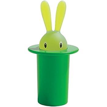 【正規輸入品】 ALESSI アレッシィ Magic Bunny マジックバニー 爪楊枝入れ / グリーン ASG16 GR