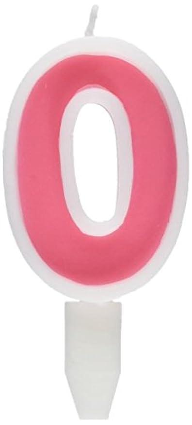 首尾一貫したズーム発生するナンバーキャンドルビッグ 0番 「 ピンク 」 10個セット 75510700PK