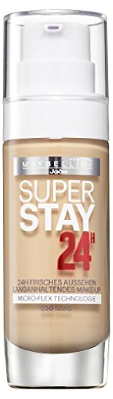 打たれたトラック専門メンタルMaybelline New York Super Stay 24H Make-Up Sand 030, 1er Pack (1 x 30 ml)