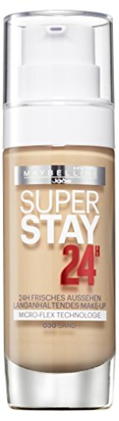 個性受け入れるつばMaybelline New York Super Stay 24H Make-Up Sand 030, 1er Pack (1 x 30 ml)