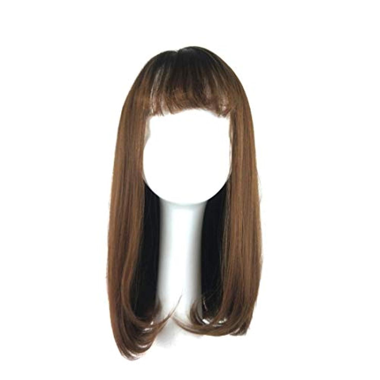 テープジョージエリオット店員Kerwinner 女性のための合成かつら自然に見える長い波状別れ耐熱交換かつら
