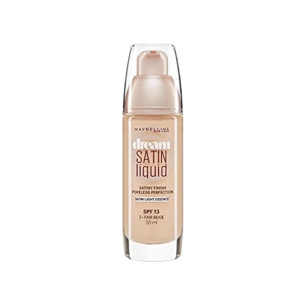 Maybelline Dream Satin Liquid Foundation 02 Fair Beige 30ml (Pack of 6) - メイベリン夢サテンリキッドファンデーション02フェアベージュ30ミリリットル...