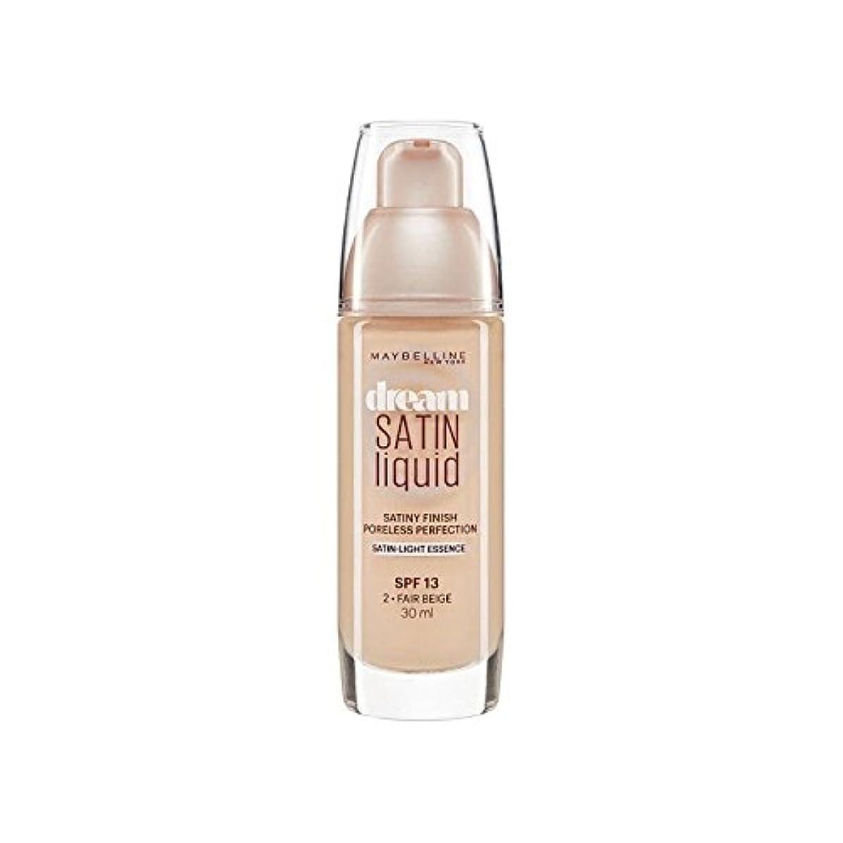 器用バーマド角度Maybelline Dream Satin Liquid Foundation 02 Fair Beige 30ml (Pack of 6) - メイベリン夢サテンリキッドファンデーション02フェアベージュ30ミリリットル...
