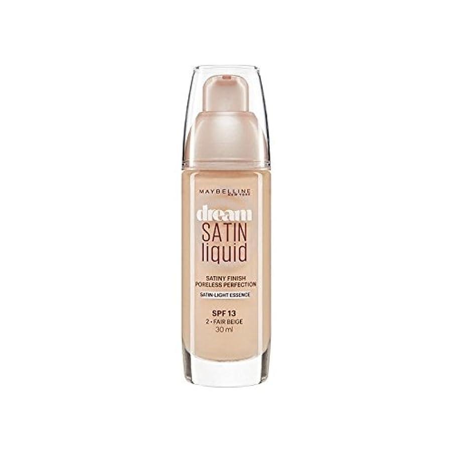 マトリックスイノセンス不完全なMaybelline Dream Satin Liquid Foundation 02 Fair Beige 30ml - メイベリン夢サテンリキッドファンデーション02フェアベージュ30ミリリットル [並行輸入品]