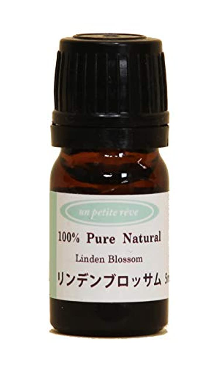 強調する学習想像力豊かなリンデンブロッサム 5ml 100%天然アロマエッセンシャルオイル(精油)