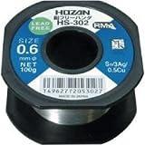 ホーザン 鉛フリーはんだ 線径0.6mm 100g HS-302