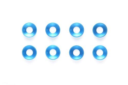 ホップアップオプションズ OP.1156 3mm アルミ皿ワーッシャー (ブルー/8個) 54156