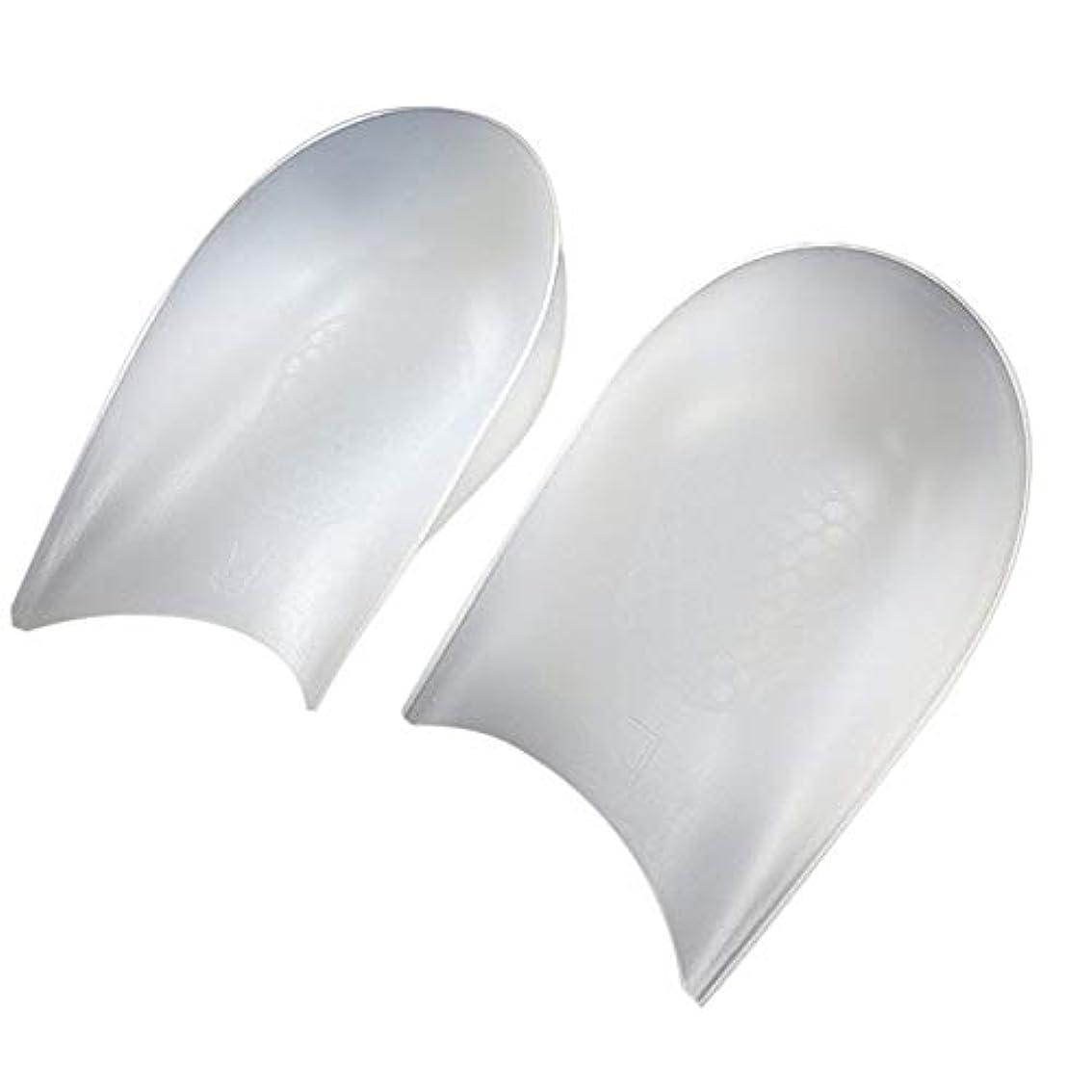 買い手アノイ精査LOCKYOU 目に見えない高さのリフトヒールパッドライナーにより、インソールの衝撃吸収性シリコンヒールパッド1ペア