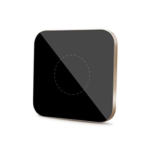 Ewin Qi 充電器 ワイヤレス ワイヤレスチャージャー 置くだけ充電 iPhone X / 8 / 8 Plus / Galaxy S8 / S8 Plus /S7 / S7 Edge / S6 / S6 Edge / Note 8 / Note 5 / Nexus 5 / 6 対応 他のQi対応機種 qi 充電器 (G2正方形, ゴールド)