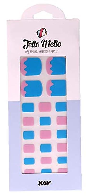 マーキングキルス地中海[NJELL PICK] Melting icecream(メルティングアイスクリーム)- ピンク、ブルー、キュート&ラブリー - ペディキュア、足指ネイルシール、ネイルラップ、マニキュアストリップ、マニキュアシール