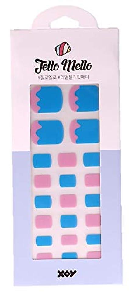 [NJELL PICK] Melting icecream(メルティングアイスクリーム)- ピンク、ブルー、キュート&ラブリー - ペディキュア、足指ネイルシール、ネイルラップ、マニキュアストリップ、マニキュアシール