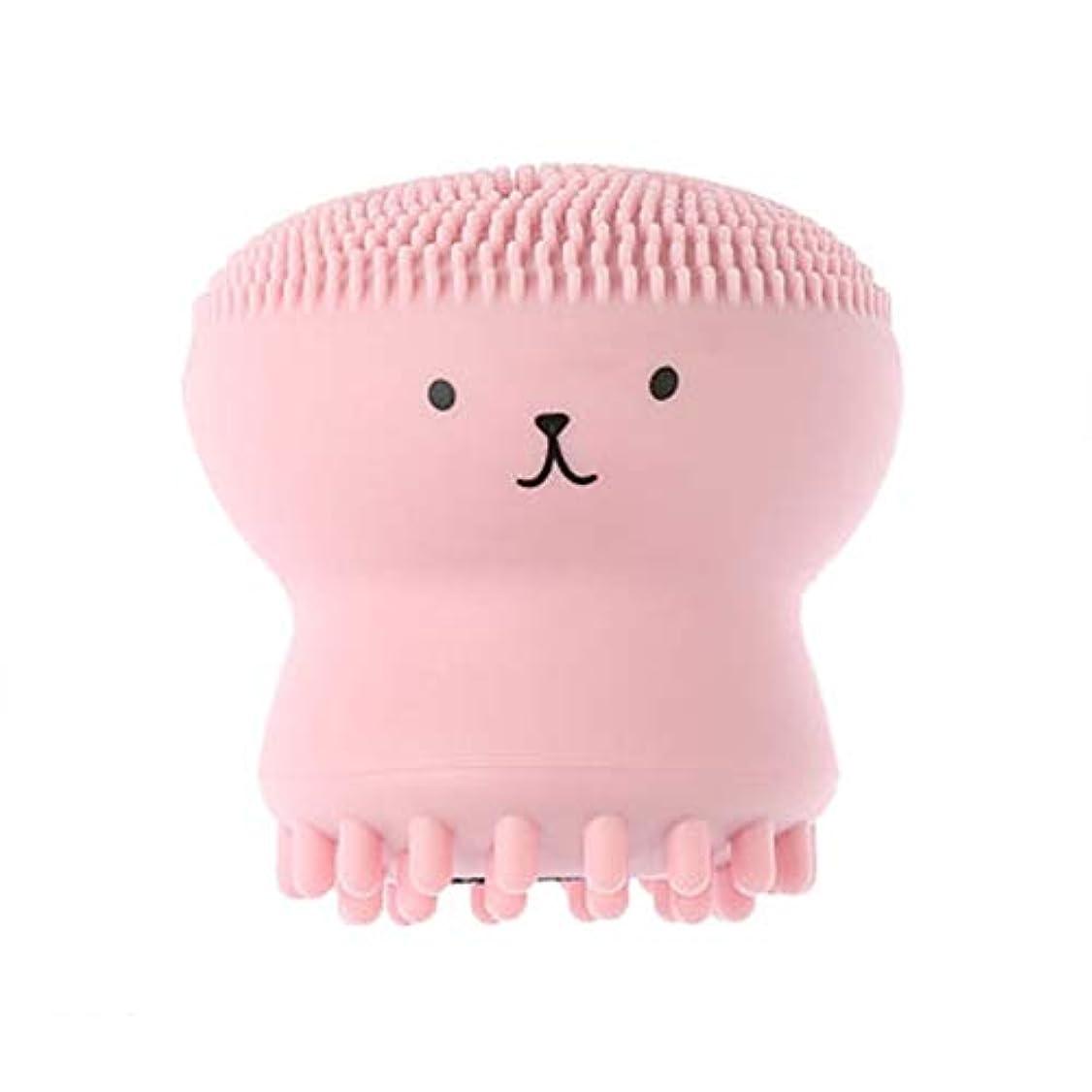 私たち誇大妄想処理する小さなタコウォッシュブラシ、シリコーンにブラックヘッドエクスフォリエイティング毛穴クレンジングブラシクレンジングブラシマッサージ洗顔アーティファクトポータブル、4本