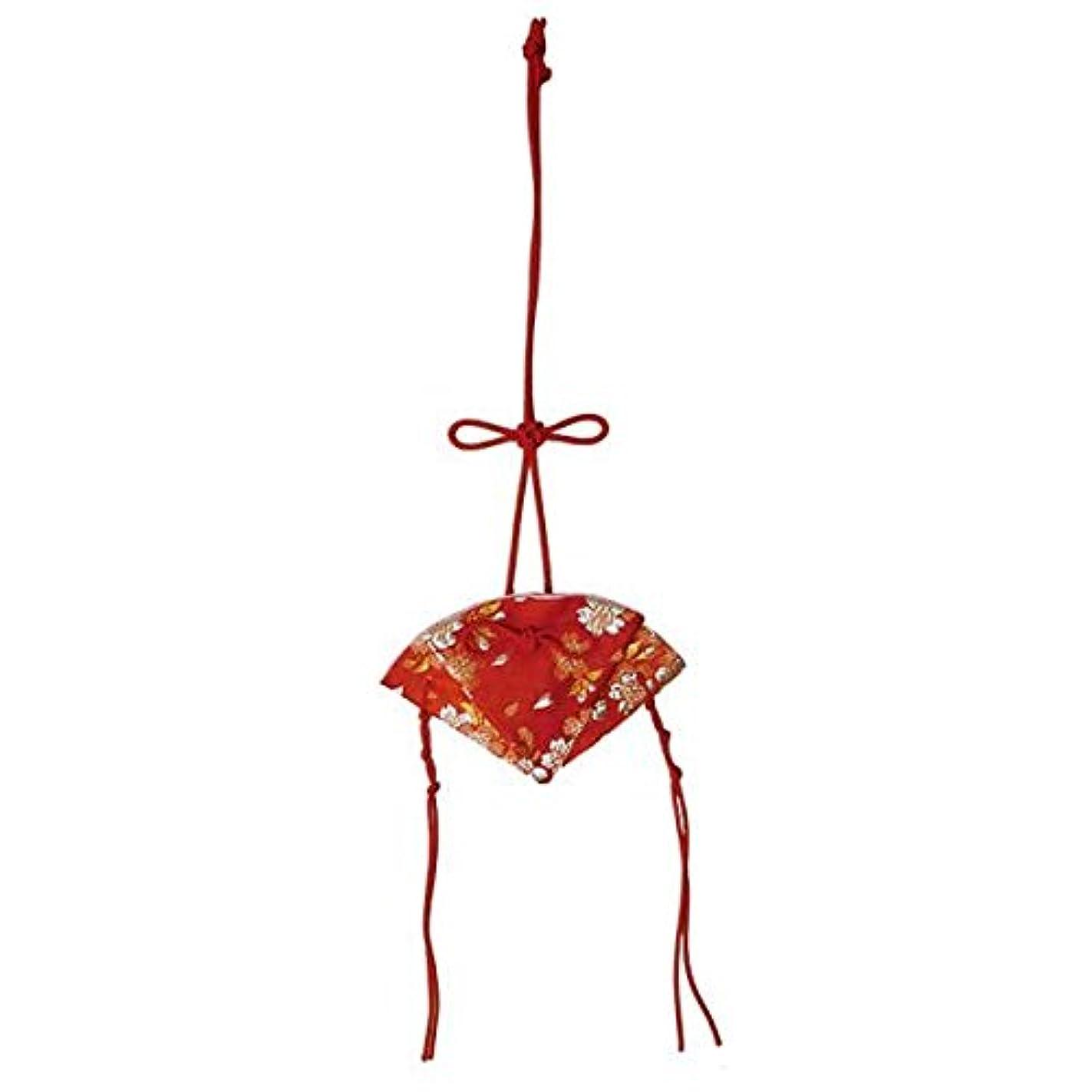 触手些細な横掛香 扇 桜 赤(赤紐)