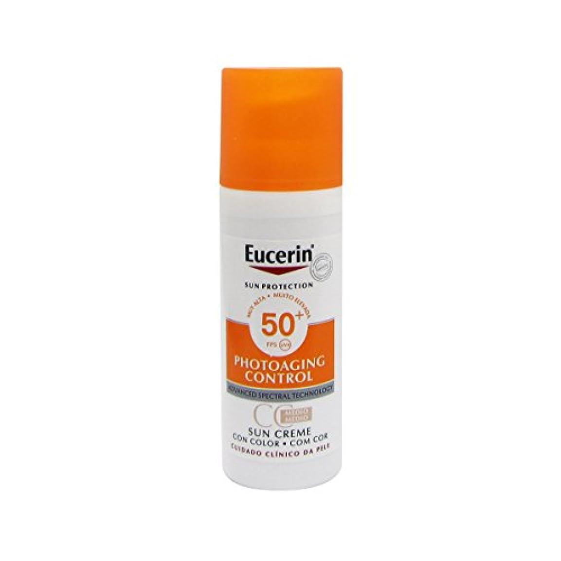 病コミットメント地震Eucerin Sun Face Tinted Cream Spf50 50ml [並行輸入品]