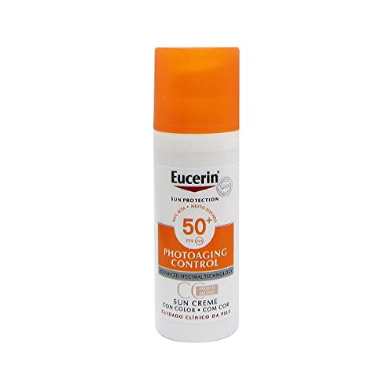 傑出したドロップシェルEucerin Sun Face Tinted Cream Spf50 50ml [並行輸入品]
