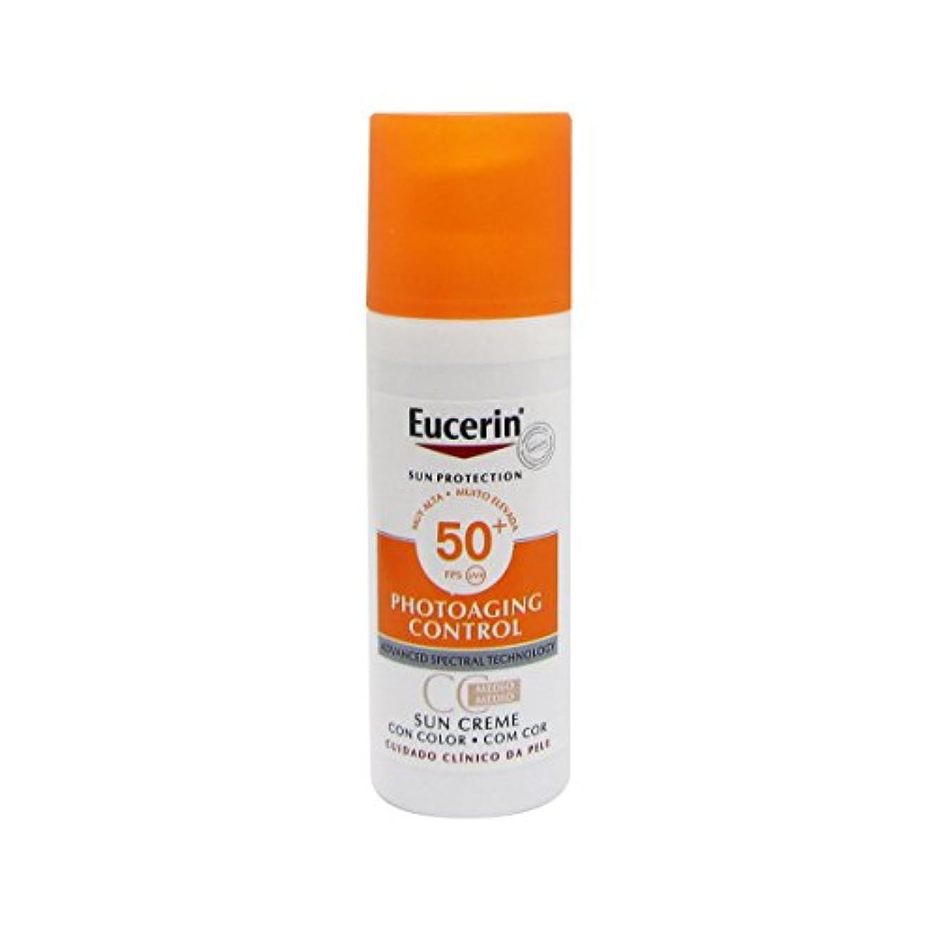 Eucerin Sun Face Tinted Cream Spf50 50ml [並行輸入品]