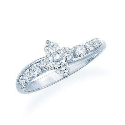 [ジュエリーツツミ]JEWELRY TSUTSUMI プラチナダイヤモンドリング RFR830 9号