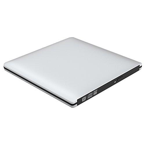 VersionTek【最新バージョン】USB3.0 ポータブルDVDドライブ CDドライブ PC外付けドライブ/DVDプレーヤー Windows/Linux/Mac OS三対応 スーパドライブ 超薄型 (シルバー)