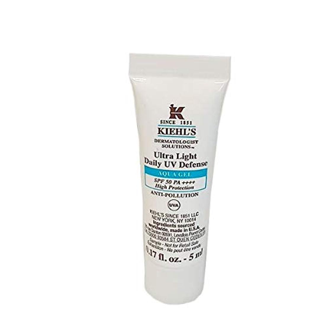 うめき市場トークンKIEHL'S (キールズ ) UVディフェンス アクア ジェル SPF50?PA++++ (5ml) / Kiehl's Ultra Light Daily UV Defense Aqua Gel