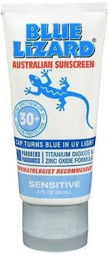 小麦粉火山学シャワーBlue Lizard Australian Sunscreen SPF 30+ Sensitive- 3液量オンス、5パック