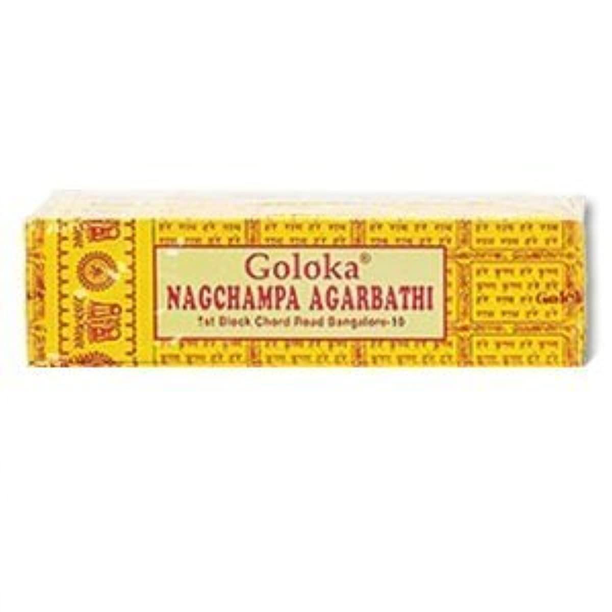 薄暗い恐怖好意的Goloka Nagchampa incense - 40 Grams per Pack by Goloka [並行輸入品]