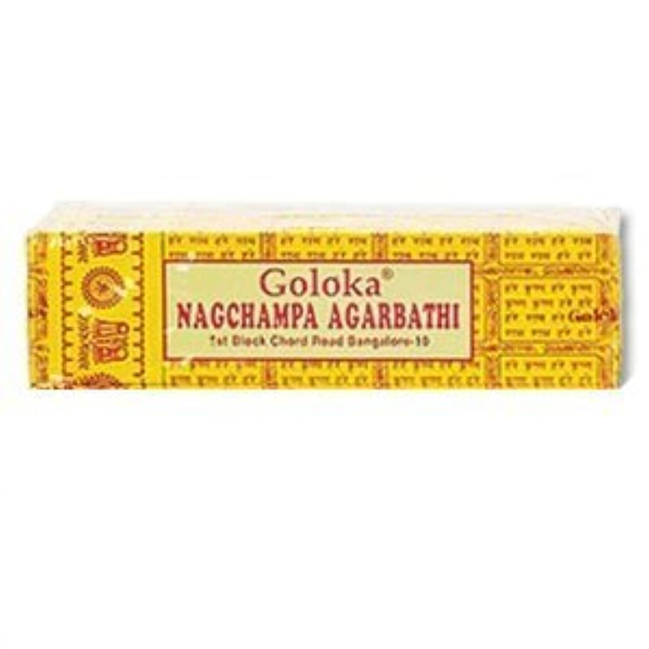 用語集仕える叫ぶGoloka Nagchampa incense - 40 Grams per Pack by Goloka [並行輸入品]