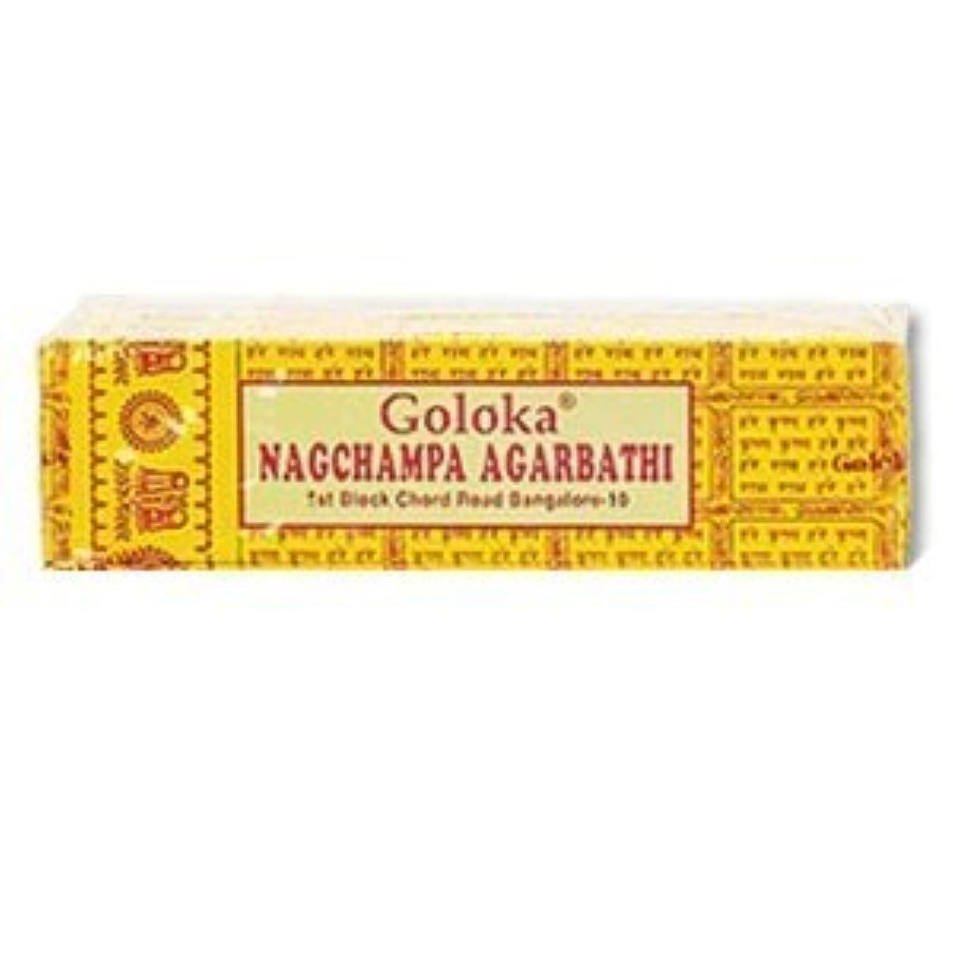 取り除く金額教Goloka Nagchampa incense - 40 Grams per Pack by Goloka [並行輸入品]
