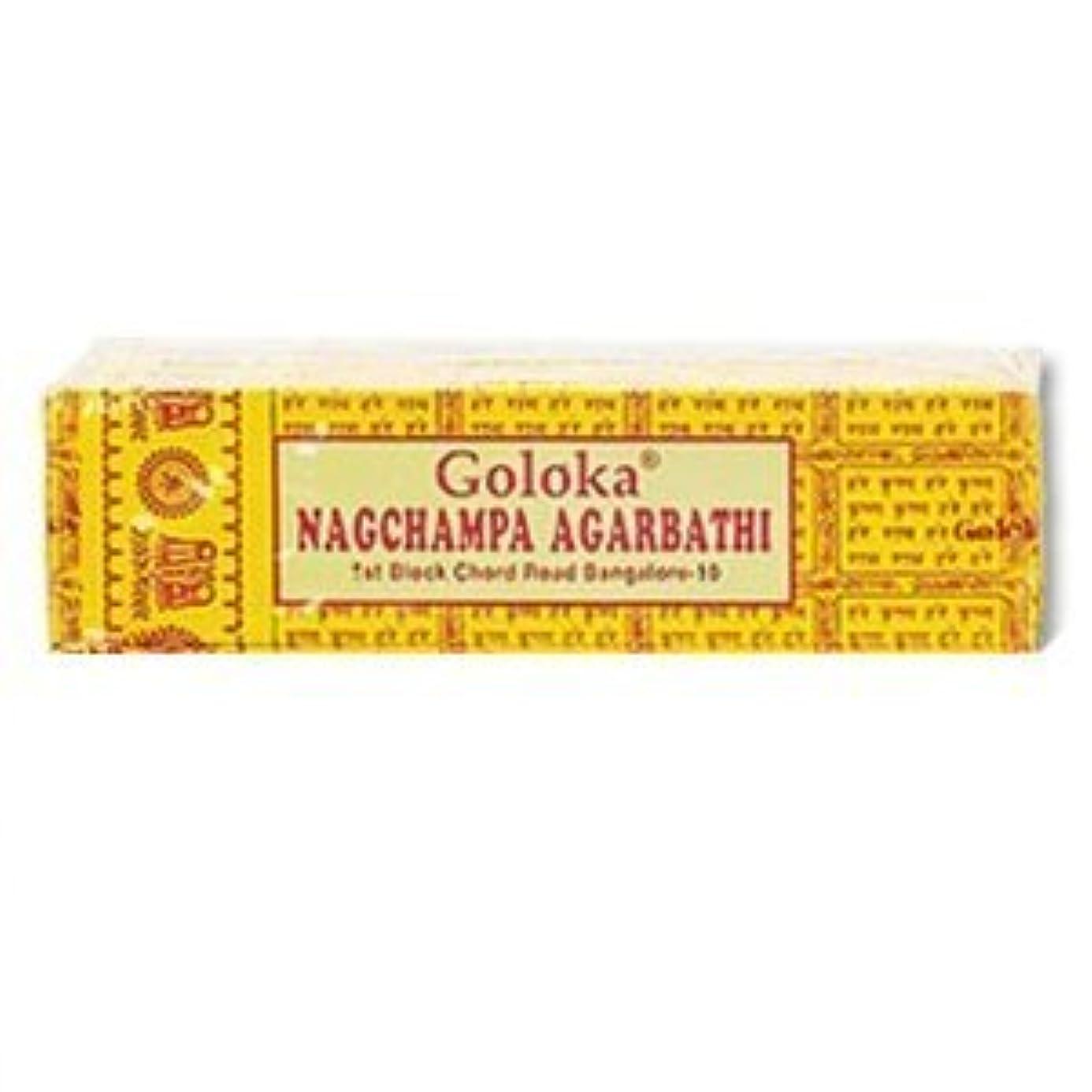 カバレッジ大胆なスロープGoloka Nagchampa incense - 40 Grams per Pack by Goloka [並行輸入品]