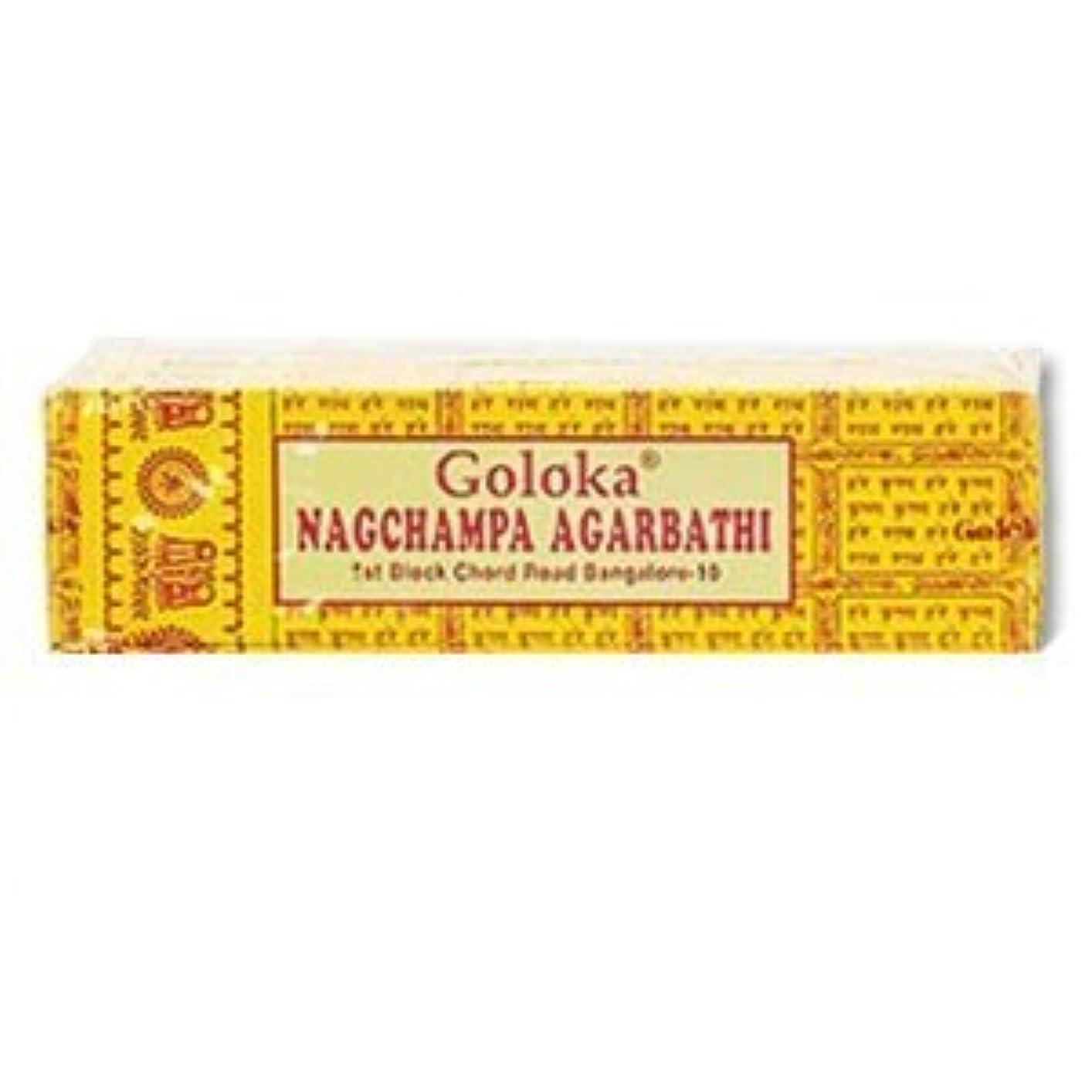 ニコチン民間発火するGoloka Nagchampa incense - 40 Grams per Pack by Goloka [並行輸入品]